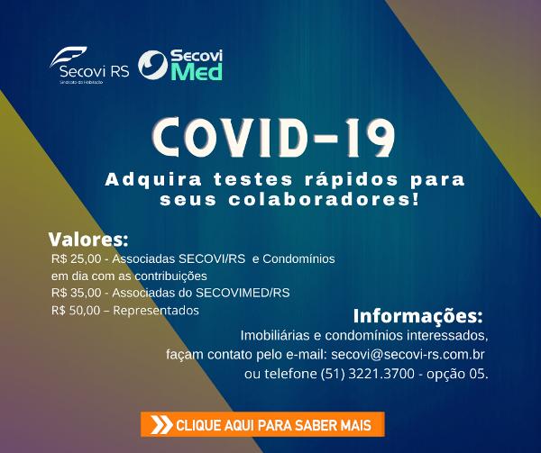 Adquira testes rápidos da Covid-19